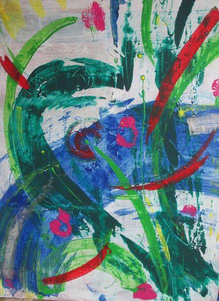 Farben, Abstrakt, Modern, Malerei