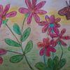 Schmetterling, Pastellmalerei, Aquarellmalerei, Blumen