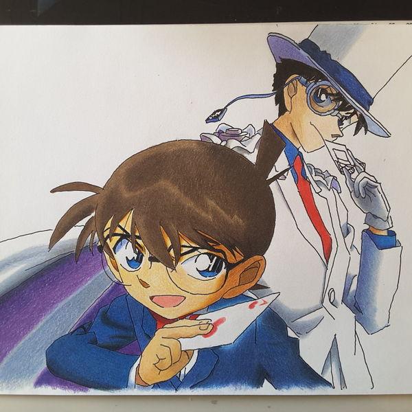 Anime, Conan, Zeichnungen,