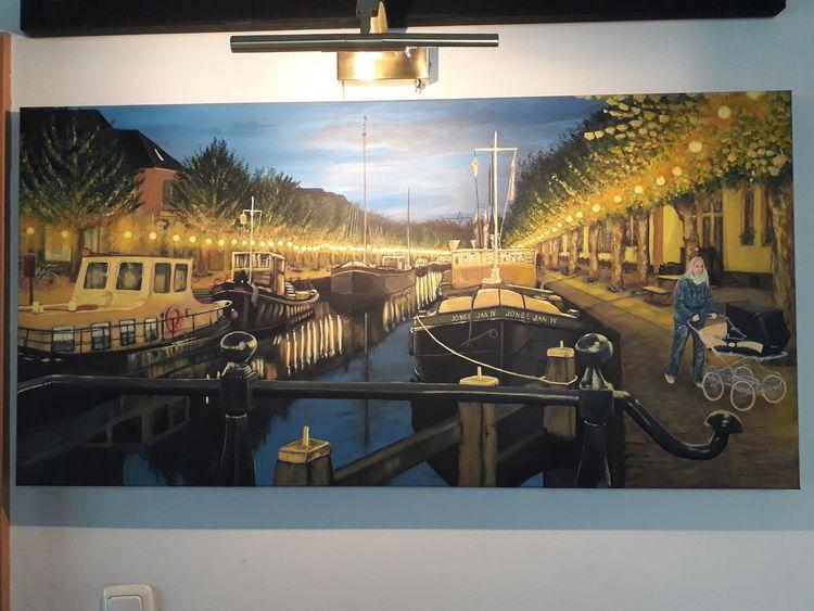 Landschaft, Acrylmalerei, Menschen, Malerei, Malerei acrylmalerei, Farben