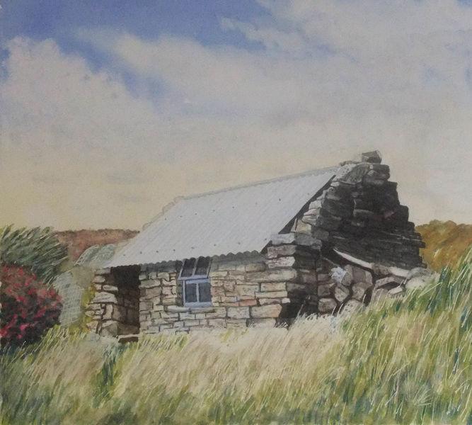 Irland, Fischerhütte, Hütte, Gras, Steinhütte, Stein