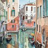 Gondel, Reflexion, Wasser, Venedig