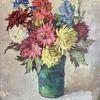 Ölmalerei, Blumen, Naila, Pinnwand