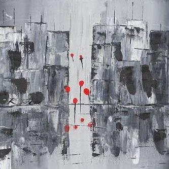 Malerei, Hochhaus, Ballon, Abstrakte kunst, Acrylpainting, Skyline
