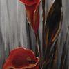 Gold, Calla, Weiß, Acrylmalerei
