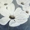 Wandbild, Weiße blüten, Schwarz weiß, Malen