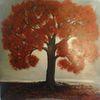 Gemaltes bild, Schwarz, Büro, Bilder mit bäumen