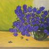 Küche, Kornblumen, Blau, Modern