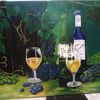 Acrylmalerei, Gelb, Wandbild, Malerei