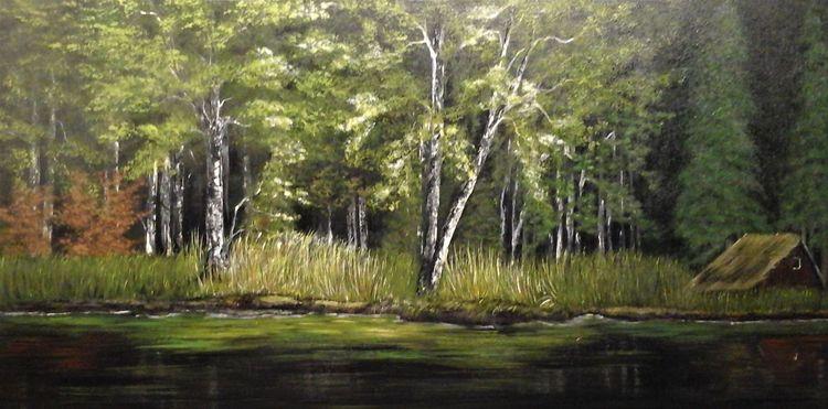 Wandbild, Malerei, Braun, Malen, Modern, Landschaft