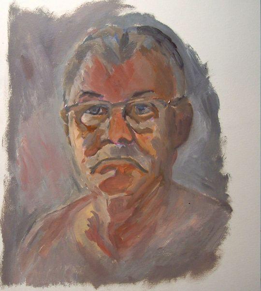 Mann, Skizze, Ölmalerei, Malerei