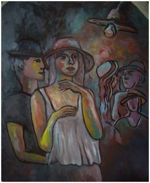 Disko, Anmachen, Malerei, Tanz