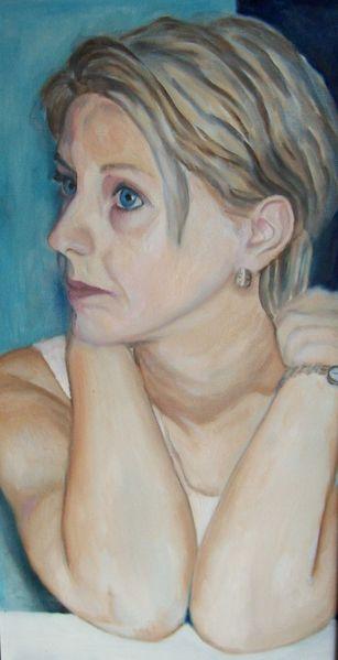 Frau, Malerei, Jung