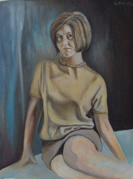 Menschen, Malerei, Frau
