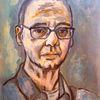 Mann, Portrait, Nachdenklich, Malerei