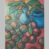 Tisch, Blumen, Pflanzen, Apfel