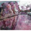 Malerei, Haus, Fluss