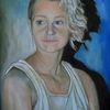 Blond, Malerei, Jung, Ölmalerei