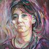 Frau, Malerei, Portrait