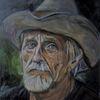 Mann, Malerei, Portrait, Hut
