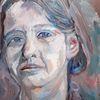 Malerei, Alla prima, Frau, Portrait
