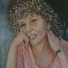 Frau, Portrait, Malerei, Sauerkrauthaar