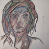 Malerei, Frau, Unsicher