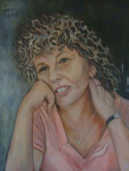 Portrait, Malerei, Sauerkrauthaar, Frau