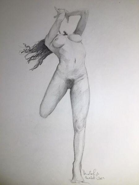 Zeichnen, Akt, Bleistiftzeichnung, Frau, Skizze, Studie