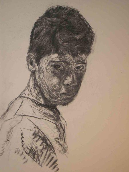 Junge, Trotz, Hochzeitsgesellschaft, Skepsis, Portrait, Verachtung