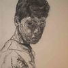 Junge, Trotz, Hochzeitsgesellschaft, Portrait