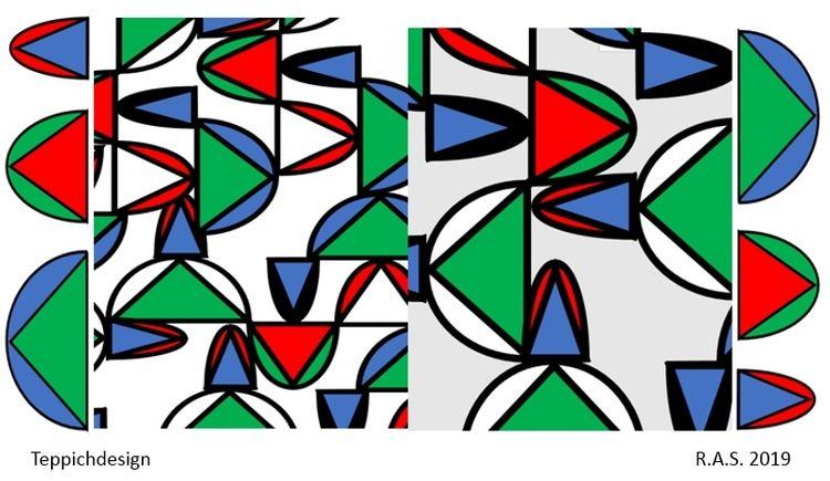 Konkrete kunst, Dreiecke, Halbkugel, Kegel, Halbkreise, Malerei
