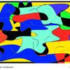 Kurve, Konkrete kunst, Farbarrangement, Digitale kunst