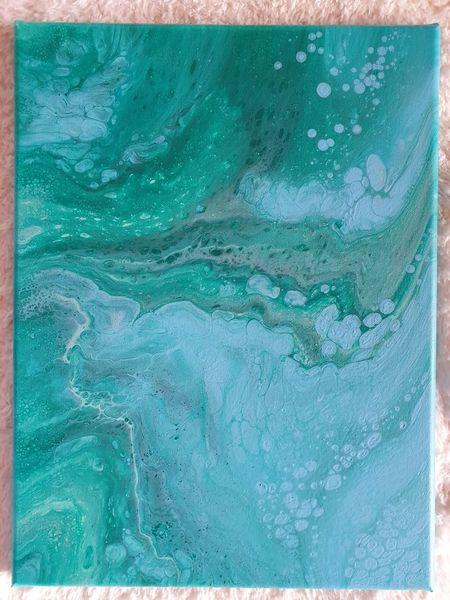 Acrylmalerei, Pouring, Mischtechnik, Farben, Abstrakt