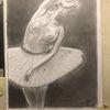 Ballerina, Bleistiftzeichnung, Leichtigkeit, Zeichnungen