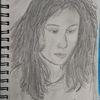 Frau, Kreide, Bleistiftzeichnung, Zeichnungen