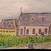 Weinberg, Hochheim, Kirche, Zeichnungen