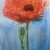 Acrylmalerei, Mohn 3, Malerei,