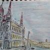 Stadt, Fluss, Budapest, Zeichnungen