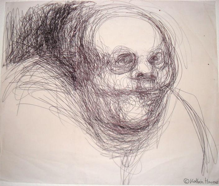 Weiß, Kugelschreiber, Schwarz, Zeichnung, Zeichnungen, Kind