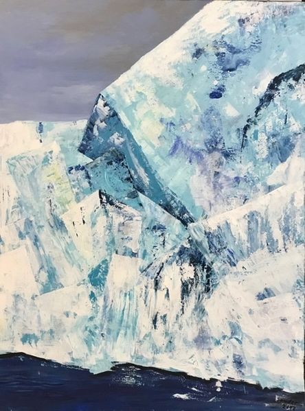 Acrylmalerei, Gletscher, Eisberg, Malerei