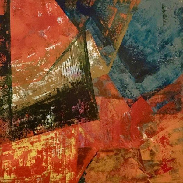Abstrakt, Acrylmalerei, Konstruktion, Malerei