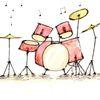 Schlagzeug, Malerei, Aquarellmalerei, Spirituell
