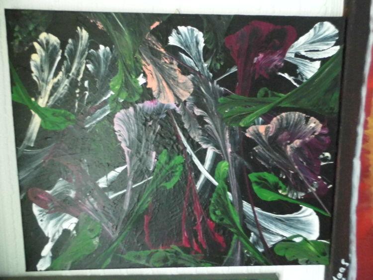 Blumen, Dunkel, Acrylmalerei, Fantasie, Malerei