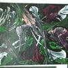 Fantasie, Blumen, Dunkel, Acrylmalerei