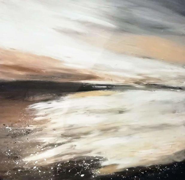 Acrylmalerei, Landschaft, Malerei, Abstrakt, Flut