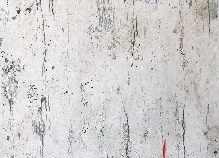 Farbfeldmalerei, Ruhig, Hell, Mischtechnik, Malerei, Fallen