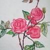 Rose, Blumen, Garten, Aquarell