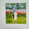 Landschaft, Kinder, Sommer, Malerei