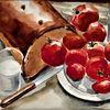 Abendmahlzeit, Martha krug, Aquarellmalerei, Malerei
